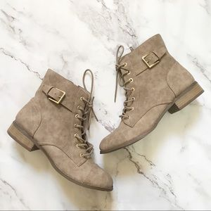 G by GUESS Womens Moto Boots Bootie Shoes Tan New